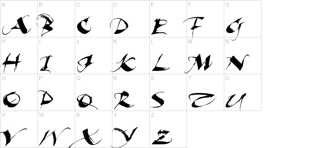 Beautiful Ink uppercase
