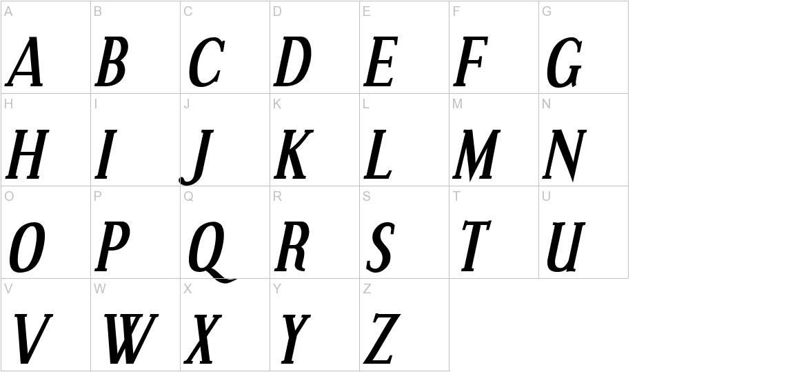 Effloresce Bold Italic uppercase