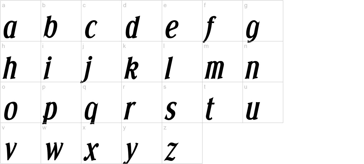 Effloresce Bold Italic lowercase