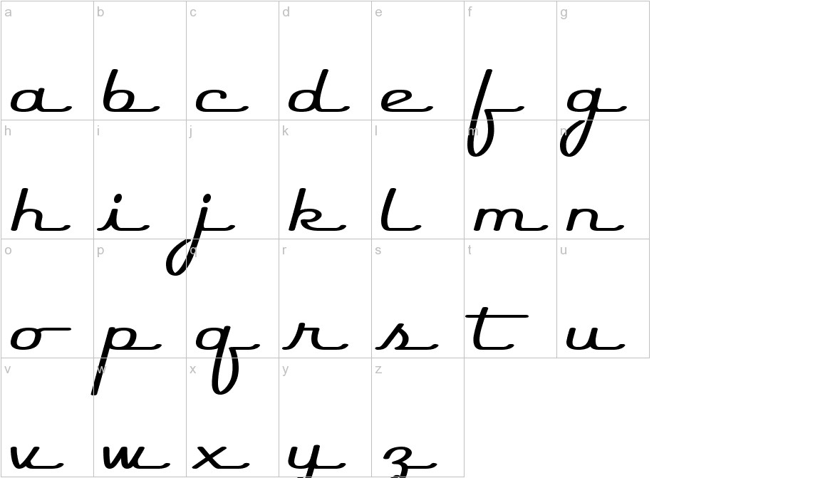 Rocket Script lowercase
