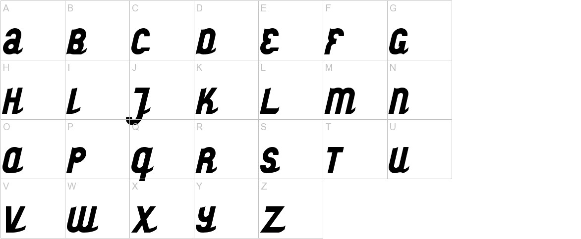 styroscript connected uppercase
