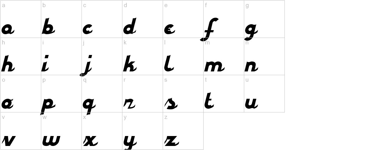 styroscript connected lowercase