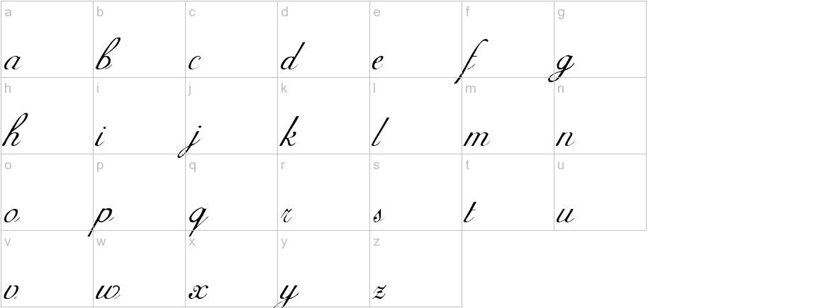 AdineKirnberg-Script lowercase