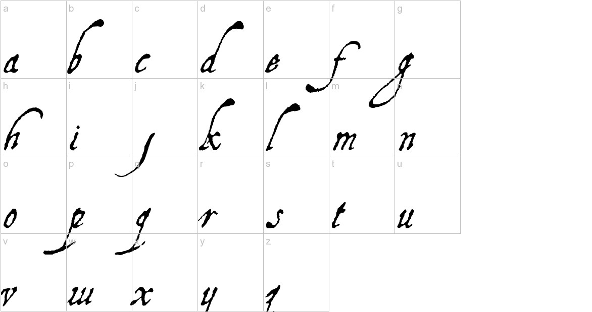 Aquiline lowercase