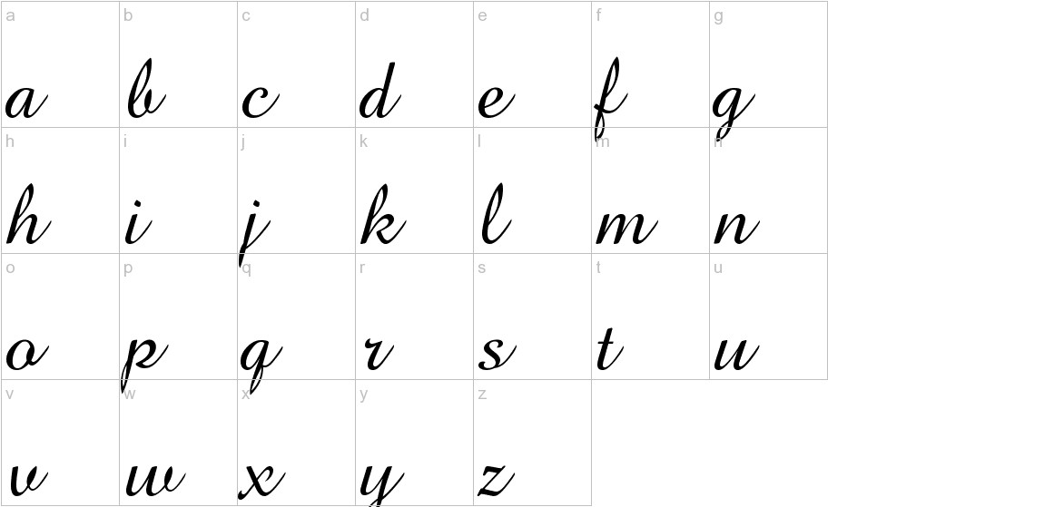 BrockScript lowercase