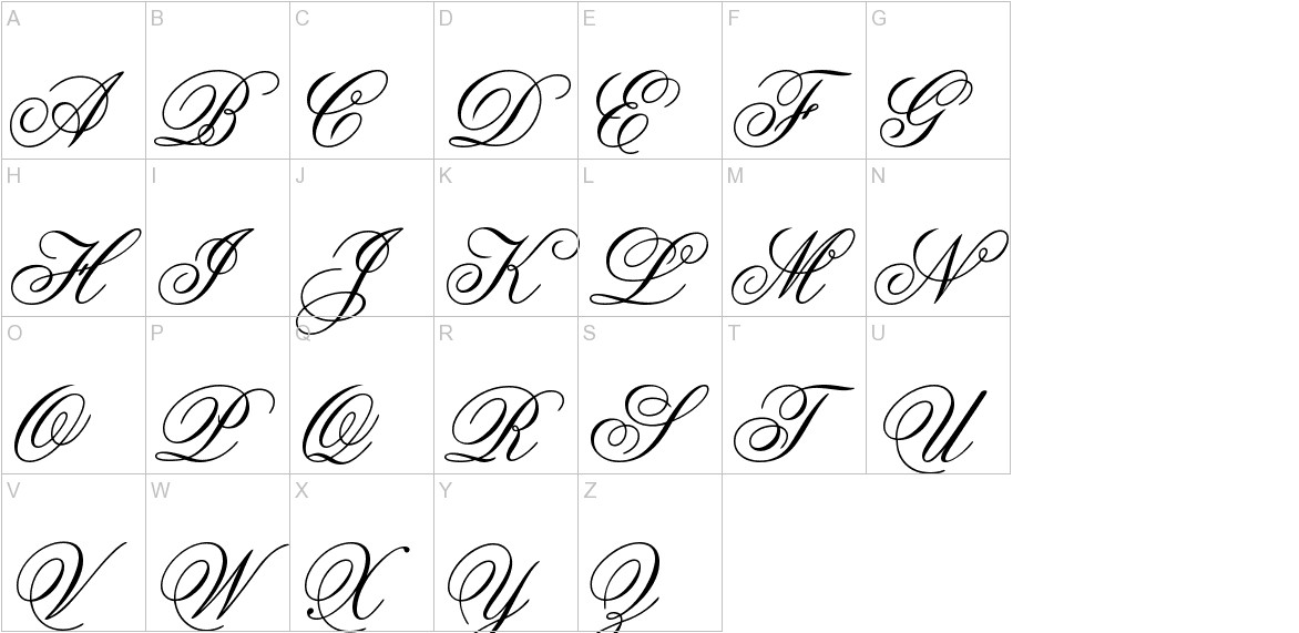 Old Script uppercase