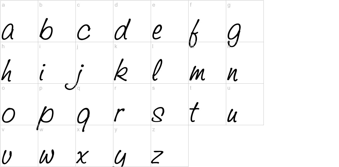 Saginaw  Bold lowercase