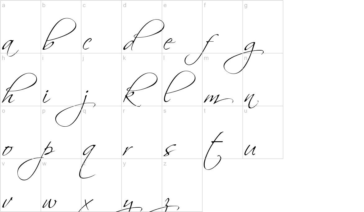 Scriptina lowercase