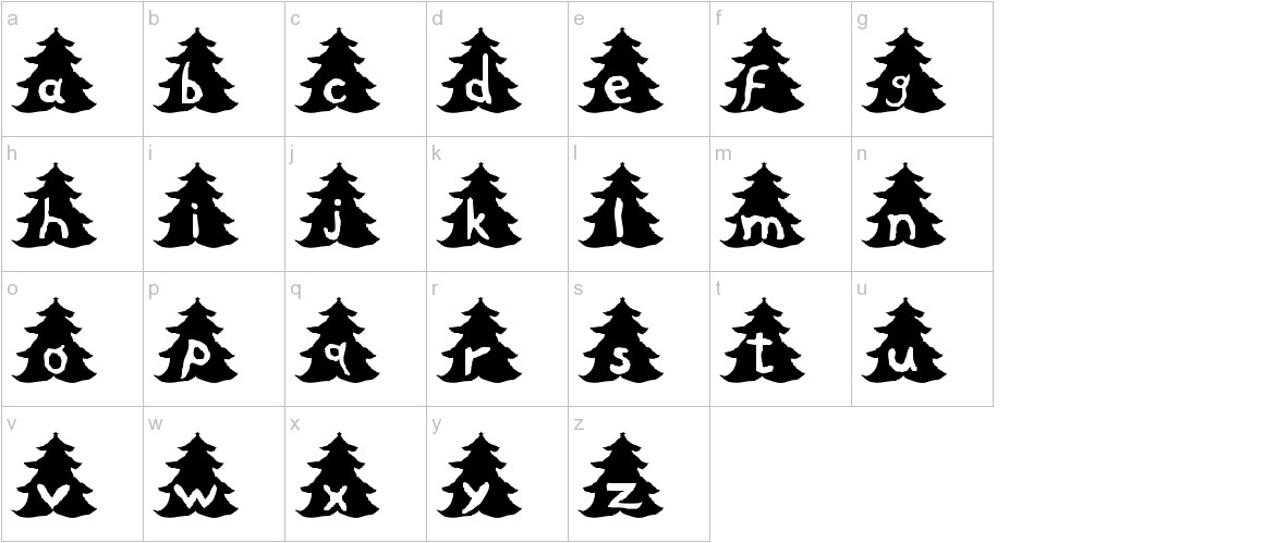 Christmas Tree lowercase