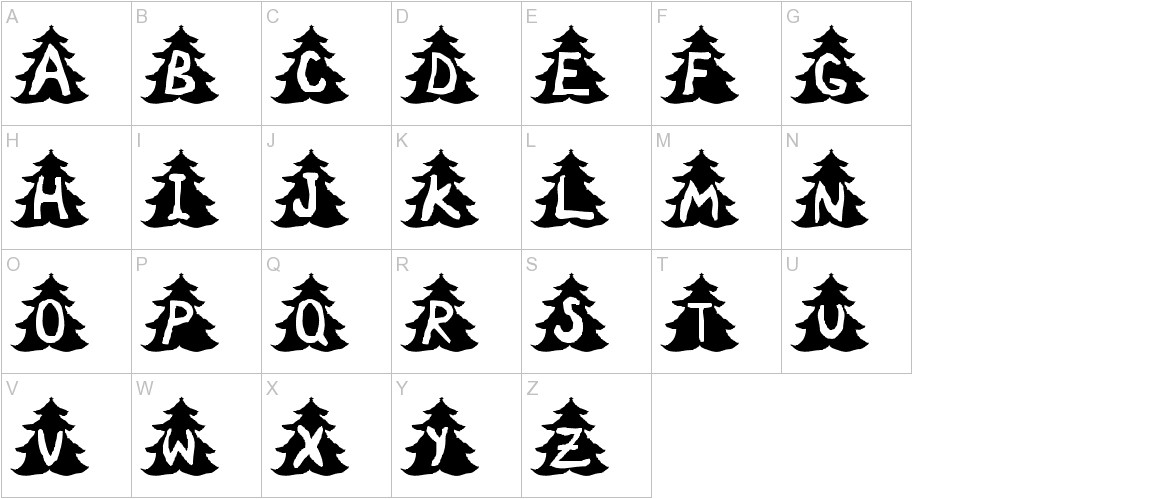Christmas Tree uppercase