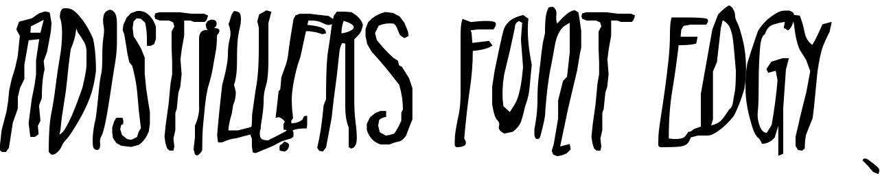 ADIstiLleRS Font Edgy