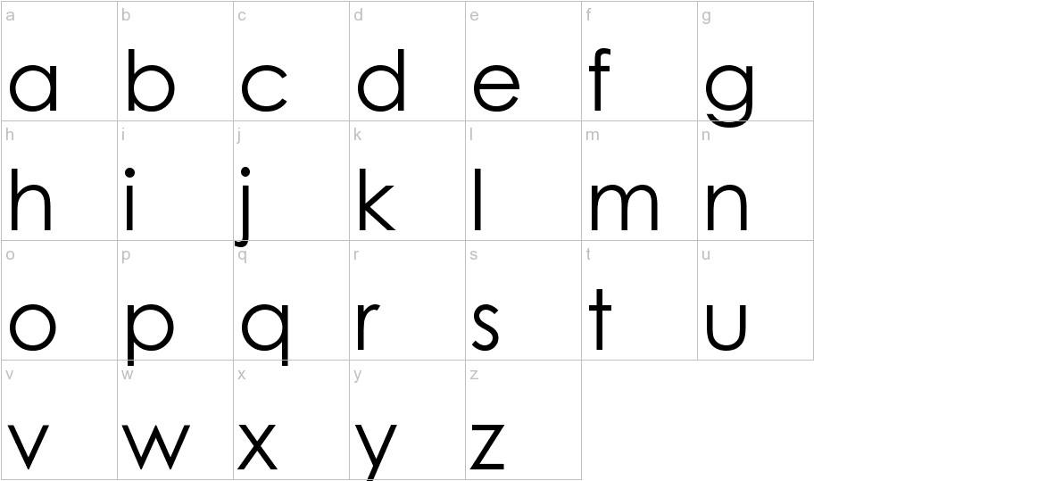 WeezerFont lowercase