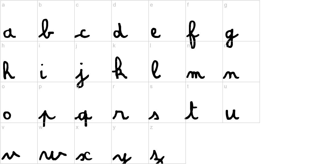 Amandine lowercase