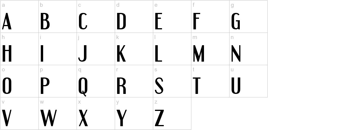 Engebrechtre lowercase