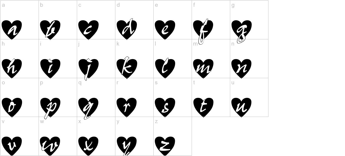 All Hearts lowercase