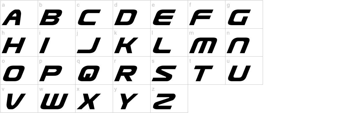 Usuzi Italic lowercase