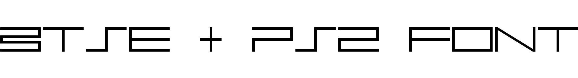 BTSE + PS2 FONT