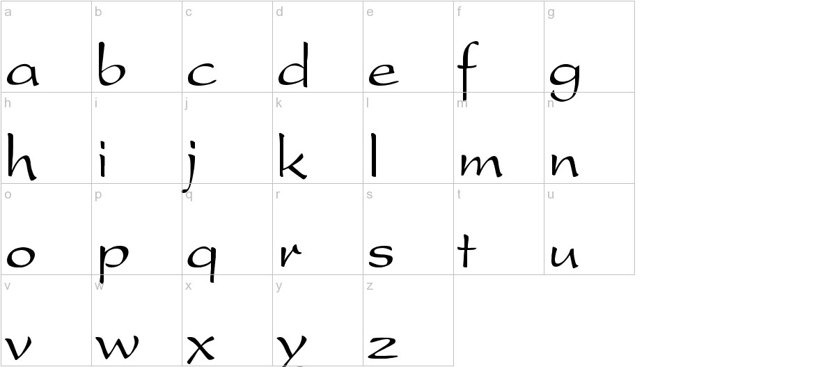 Present-Normal lowercase