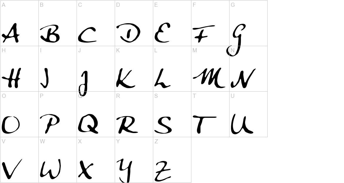 Anke Calligraphic FG uppercase