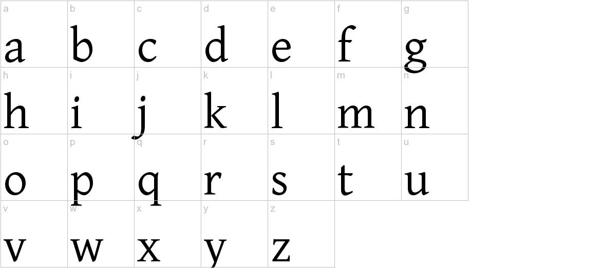 Gentium lowercase