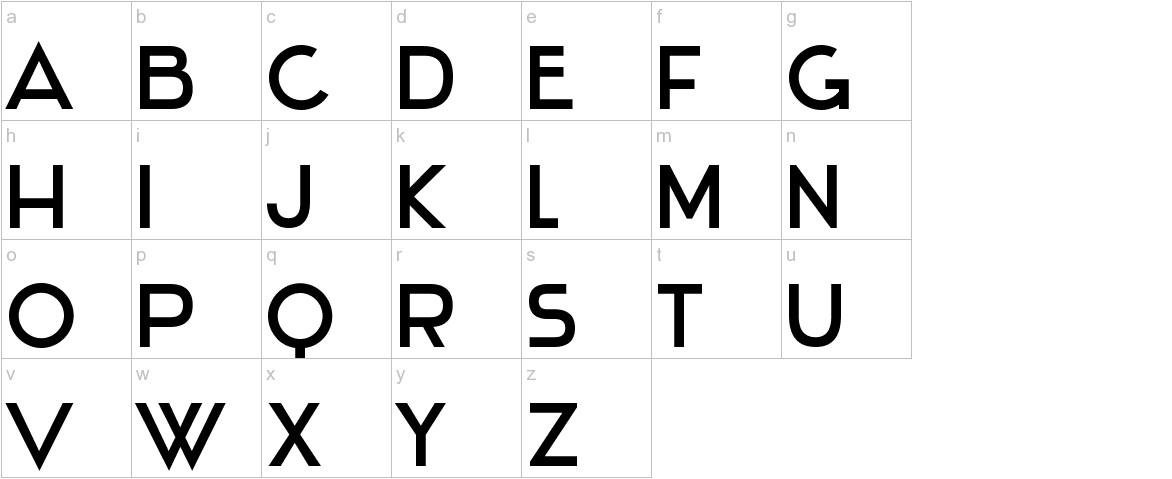 Stentiga lowercase