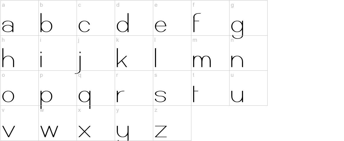 Castorgate lowercase