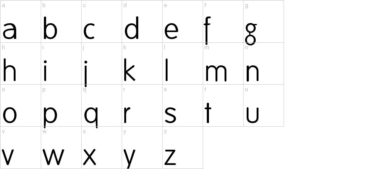 FolksDecoon-Light lowercase