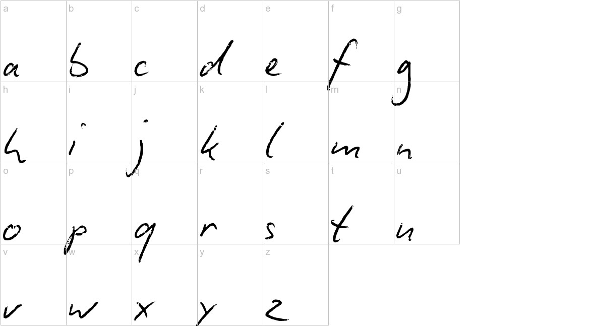 Biro Script lowercase