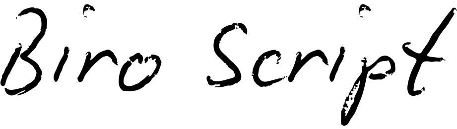 Biro Script