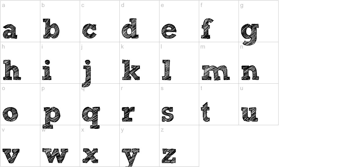 Sketch Rockwell lowercase