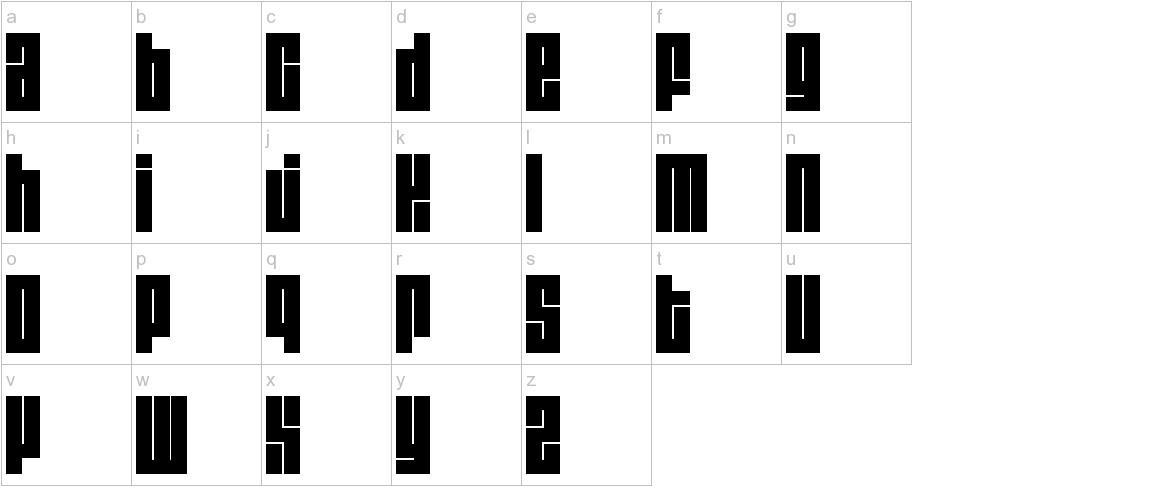 Blackout3 lowercase