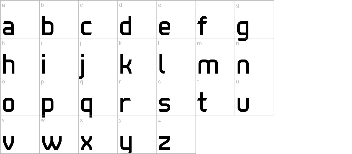Tenby Five lowercase