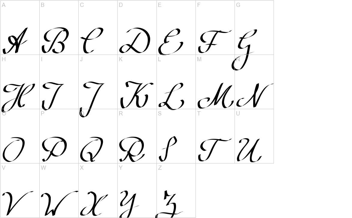 Wolgast Script uppercase