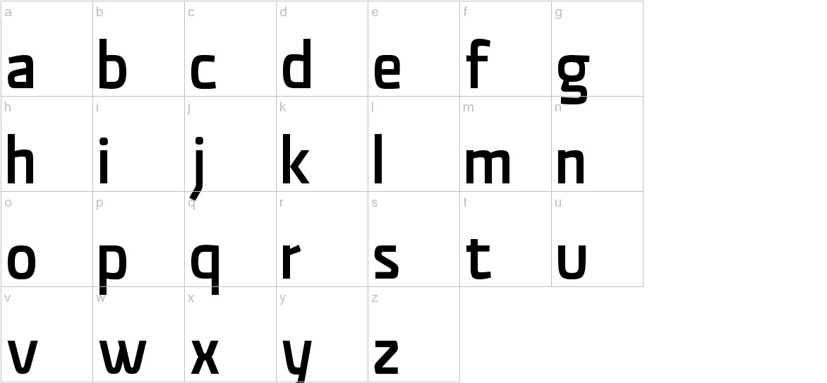Material Sans Medium lowercase