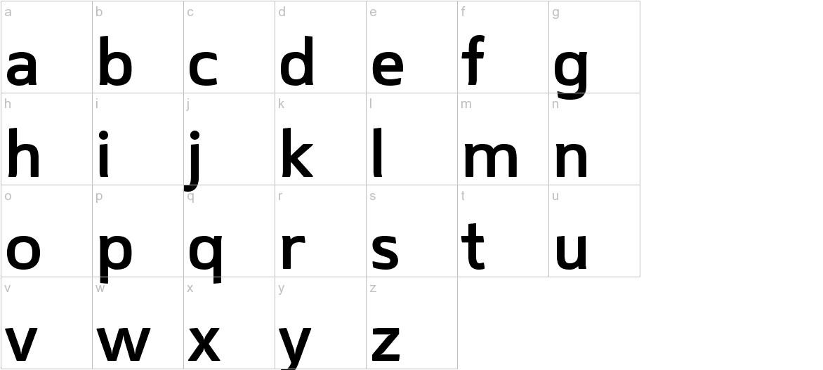 Mentone SemiBold lowercase