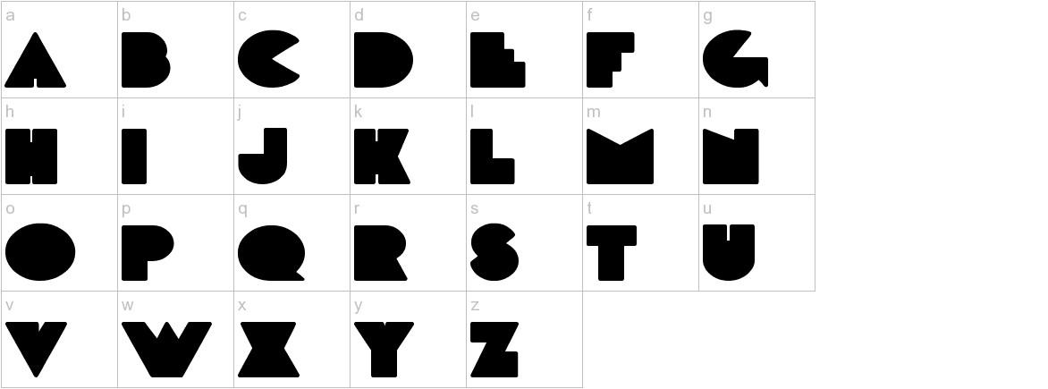 DeLarge Bold lowercase
