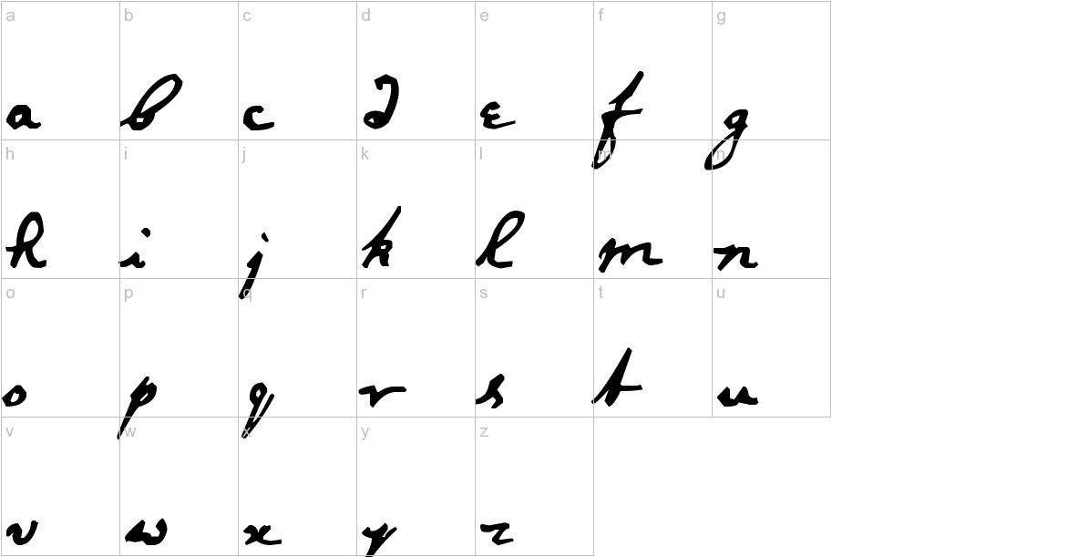 Newton Hand lowercase