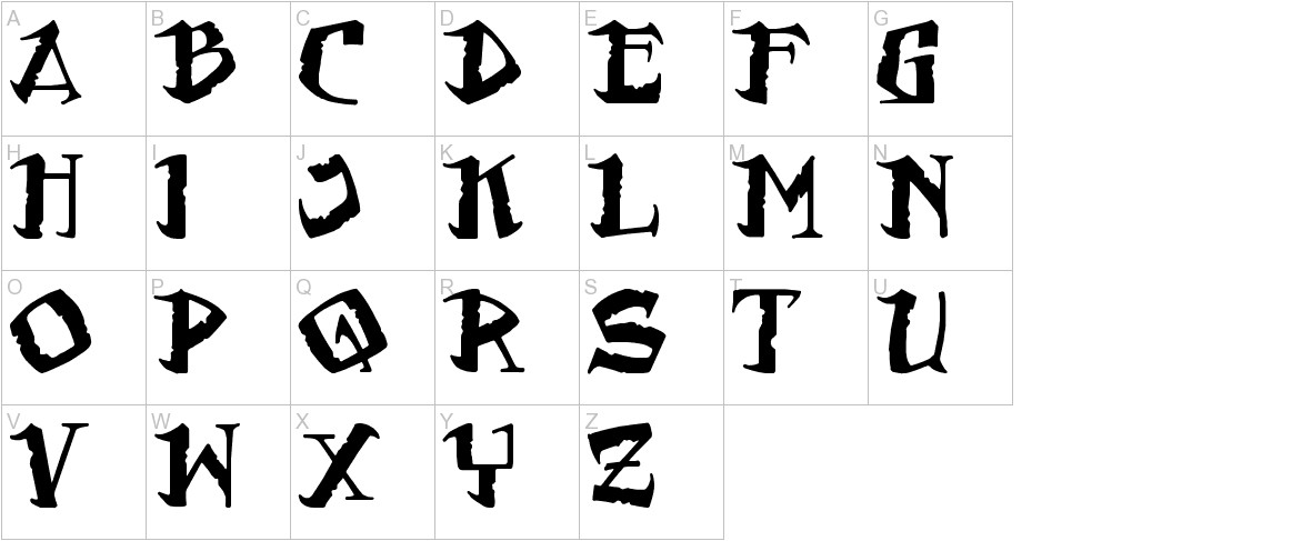 Flat Earth Scribe uppercase