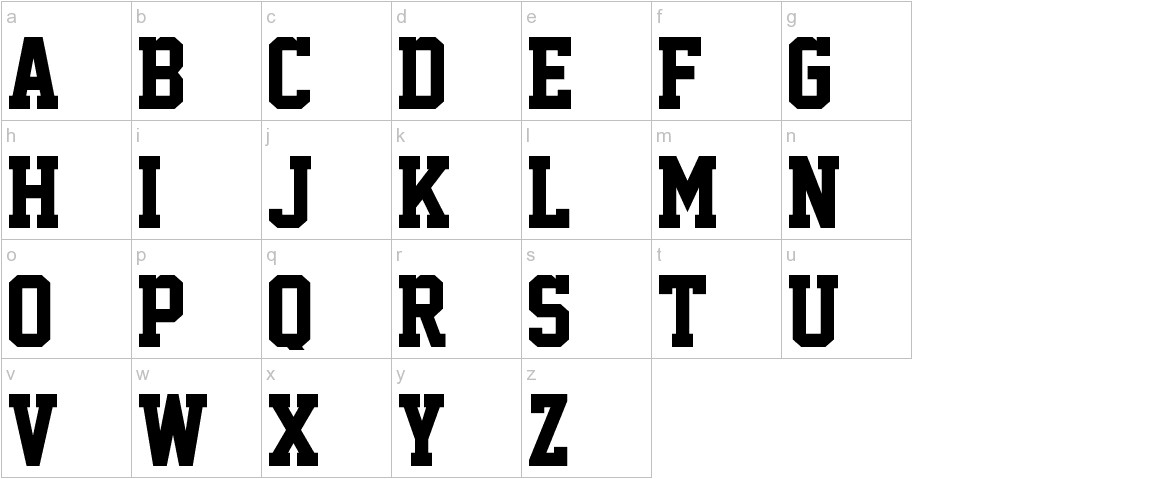 Academic M54 lowercase