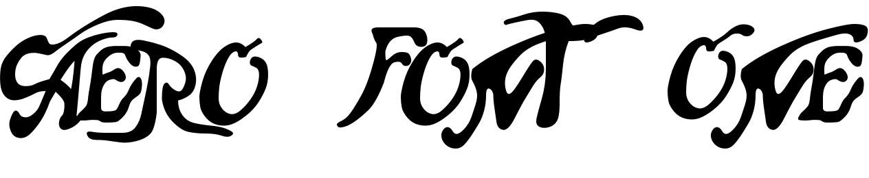 Aero Font One