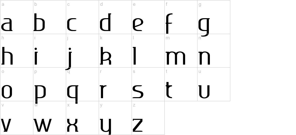 Ageone serif lowercase