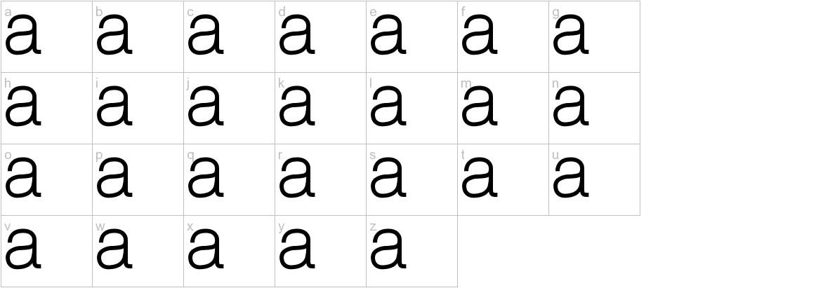 alghorie std lowercase