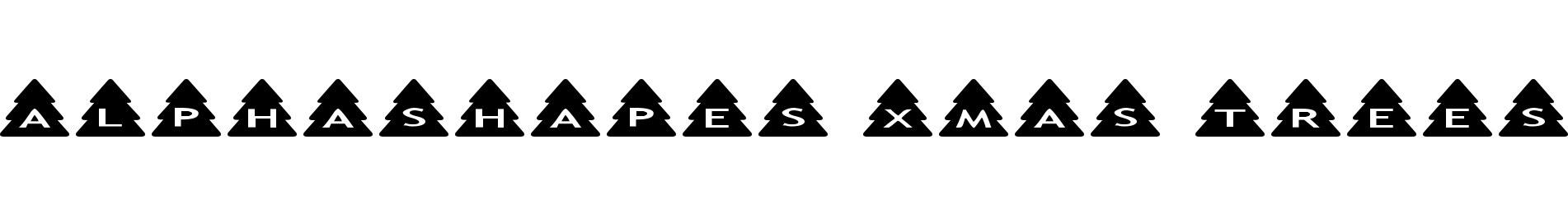 AlphaShapes xmas trees
