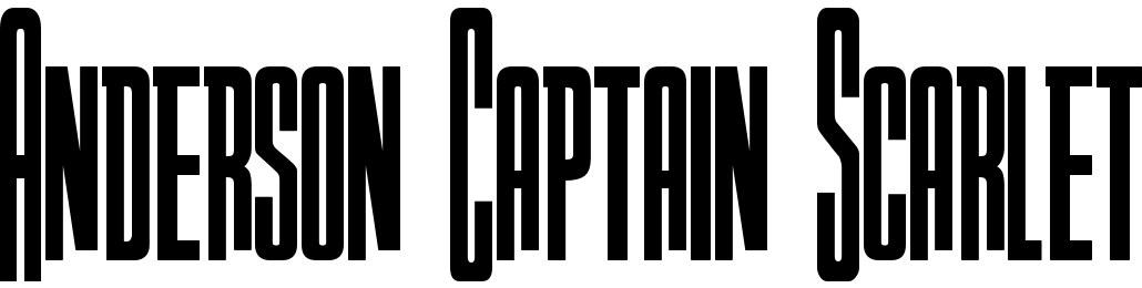 Anderson Captain Scarlet