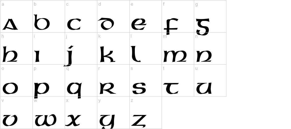Gaeilge 1 Normal lowercase