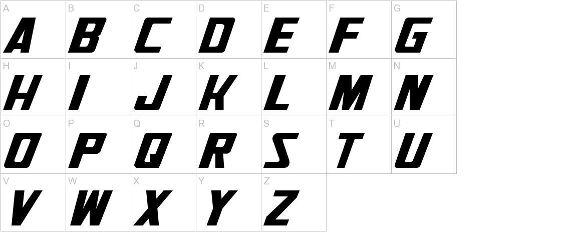 Generation Two Normal uppercase