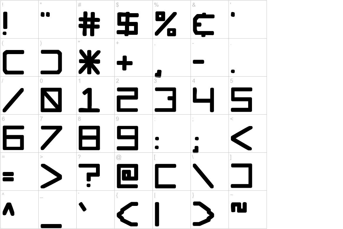 Glockenspiel characters