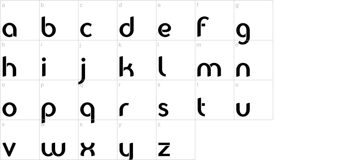 Balkeno lowercase