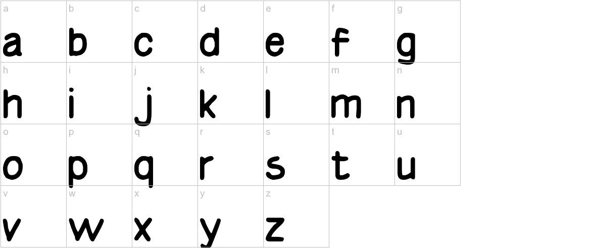 Basic Comical Regular NC lowercase