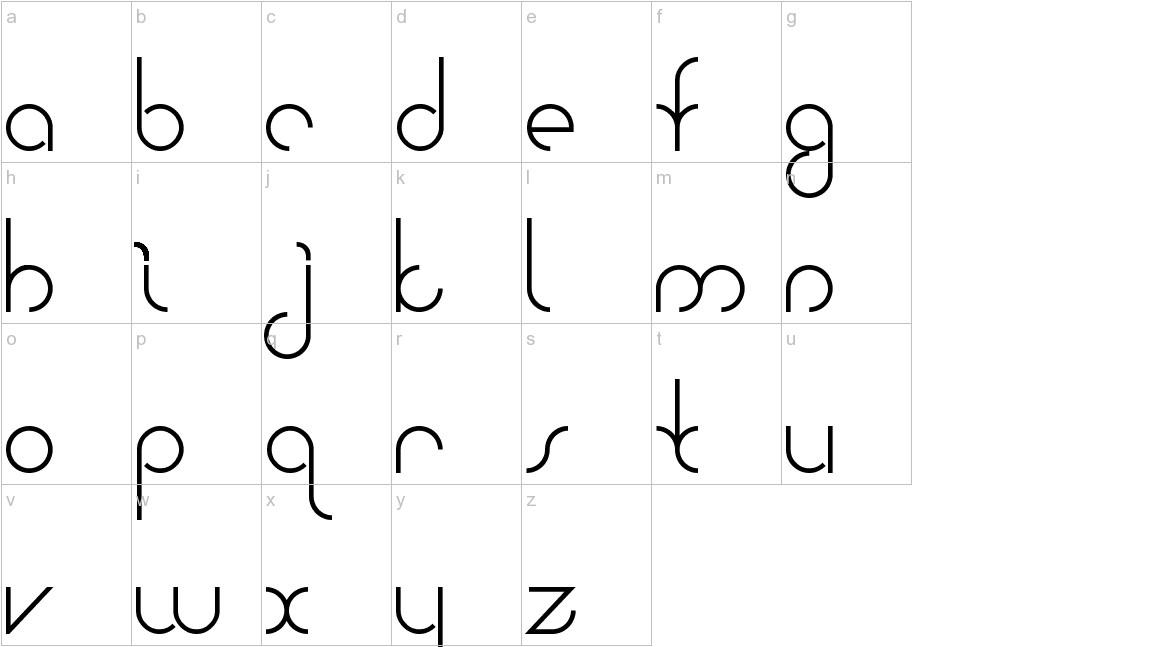 Bauhaus Two lowercase